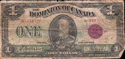 Phenomenal Series 1923 Dominion of Canada $1 Paper Currency EG548