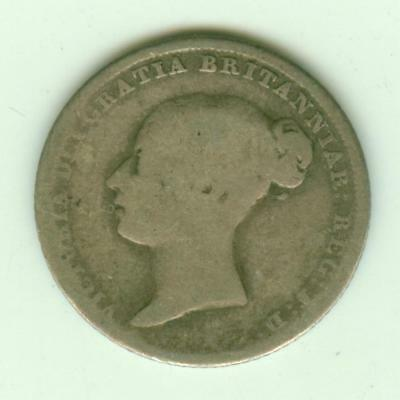 British Silver 1844 6 Pence-Lot D3