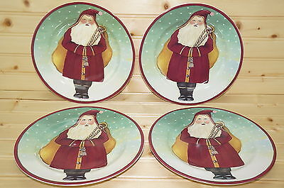 """Block Father Christmas by Gear (4) Salad Plates, 8 1/4"""""""