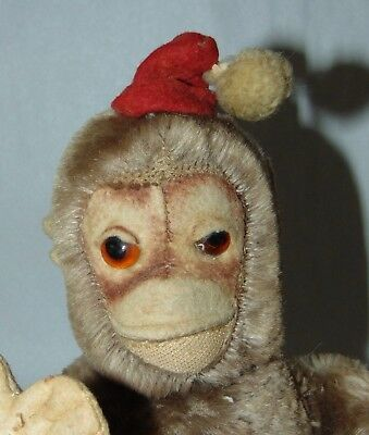 Vintage 1930'S MOHAIR MOKEY Character Novelty Co SANTA CLAUS HAT