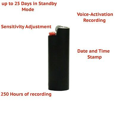 Lighter Spy Voice Activated Mini 28 Hours Digital Voice Recording Device USA