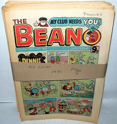 The Beano Comic - 52 Comics - Full set for 1981 - Paperback, Collection REF 1