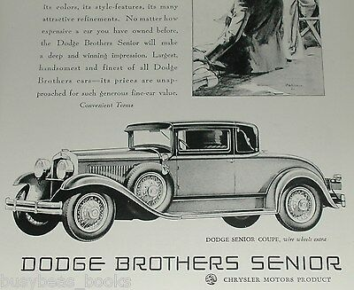 1929 Dodge Brothers advertisement, DODGE Senior Landau Coupe