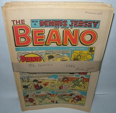 The Beano Comic - 52 Comics - Full set for 1986 - Paperback, Collection ( REF9)