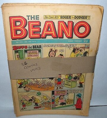 The Beano Comic - 32 Comics  - Dated 1973 - Paperback,  ( REF26)