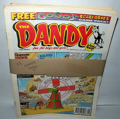 The Dandy Comic - 33 Comics  - Dated 1996 - Paperback,  ( REF28)