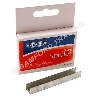 1,000 Draper 48951 10mm Steel Staples for the 83658 48434 48435 Staplers/Tackers