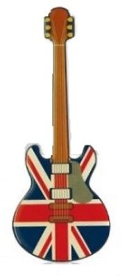 Union Jack Flag Guitar Fridge Magnet Souvenir Gift UK GB Rubber Elgate New