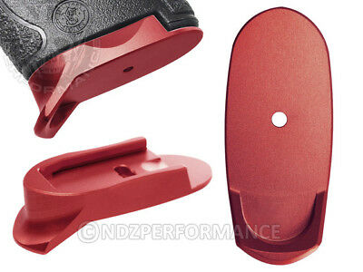 for Smith & Wesson S&W Shield Mag Floor Base Plate Long 9 40 Red Lasered Options