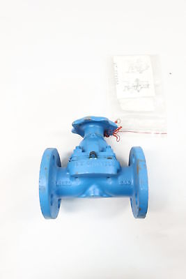 New Itt Grinnell Manual Iron Flanged 1in Diaphragm Valve