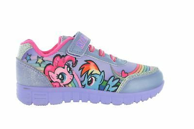 Girls My Little Pony Lynmouth Glitter Canvas Touch Fastening Shoes Uk Size 6-12
