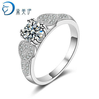 Natural Zircon 925 Silver Ring For Women Retro Engagement Wedding Jewelry DM036