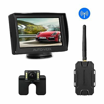 Autovox Wireless Car Rear View Reverse Backup Camera Kit + 4.3'' TFT LCD Monitor