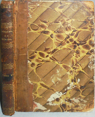 1819 -History of The Conquest of Mexico- Vintage Leather Book - Madrid, Spain
