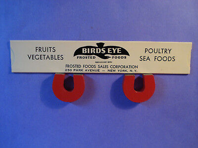 Antique Advertising Celluloid Cost Slide Indicator Birds Eye Frosted Foods