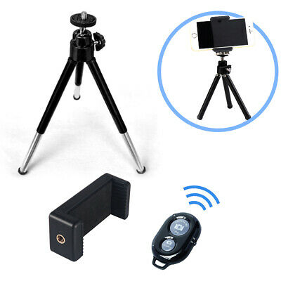 """7"""" Extendable Mini Tripod + Universal Mount and Bluetooth Remote for Smartphones"""