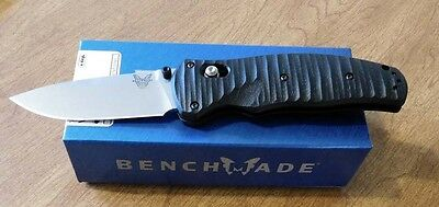 BENCHMADE New Osborne Assisted Volli Satin Plain Edge S30V Blade Knife/Knives