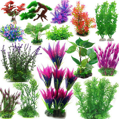 Lot Grass Aquarium Decoration Water Weeds Ornament Plastic Plant Fish Tank Decor