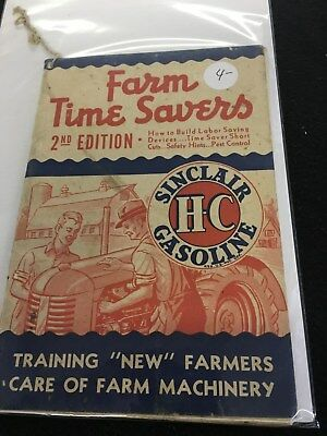 1943 Farm Time savers 2nd edition Sinclair HC Gasoline Great advertisements