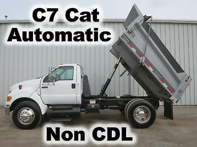 F650 Cat Diesel Automatic 10Ft Dump Telescopic Bed Body Truck Non Cdl 79-K Miles