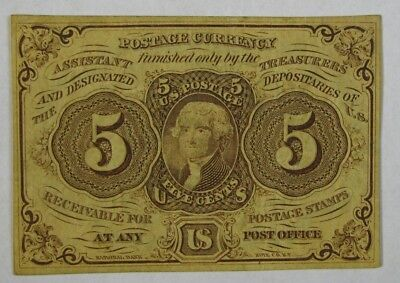 1862 Civil War Era 5 Cent Jefferson Postage Fractional Currency Scott PC 5  #169