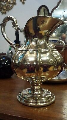 660g HIGH VINTAGE COLONIAL EMPIRE FLUTTED PITCHER sterling SILVER INSPIRED XVIII