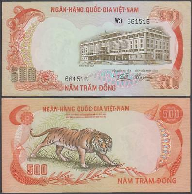 1972 National Bank of South Vietnam 500 Dong (AU)