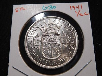 G30 British Africa Southern Rhodesia 1941 1/2 Crown