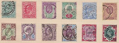 Kappysstamps Great Britain 127-138 Set Used Cats $300.00+  Id6036