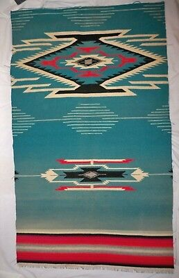 Vintage Native American Rug saddle Blanket Weave weaving 36 X 44""