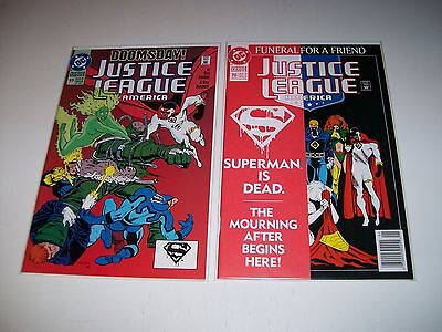 Justice League America (1992) #69 & 70 Superman Doomsday NM unread 1st print