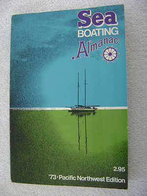 1973 Sea Boating Almanac Old Advertizing Inside