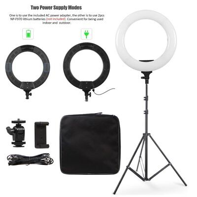 "14"" 40W Dimmable 3200-5500K LED Ring Light & Light Stand Kit For Make up Photo"
