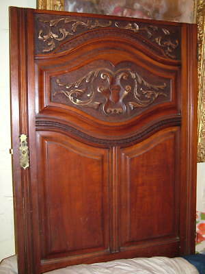 "LARGE SOLID MAHOGANY ""heraldic type "" CARVED DOOR PANEL PLAQUE NO RESERVE LOOOOO"