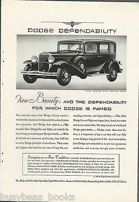 1931 DODGE advertisement, Dodge Six Sedan photo