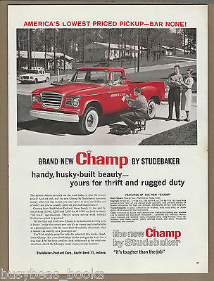 1960 STUDEBAKER CHAMP pickup advertisement Champ pickup truck, large size advert