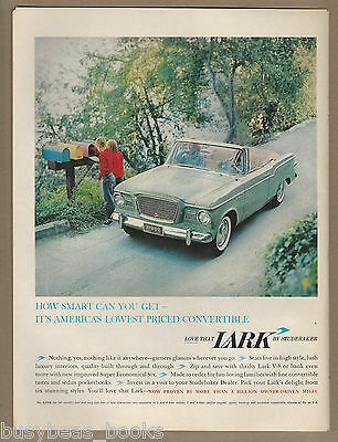 1960 STUDEBAKER LARK advertisement, Lark convertible, large size advert