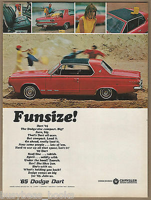1965 DODGE DART advertisement, Dodge Dart water fight, large size advert