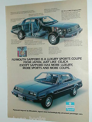 1980 Plymouth ad, Plymouth Sapporo