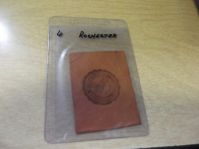 Early 1900's Leather Tobacco Silk/patch --- Rochester University