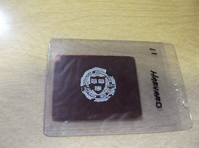 Early 1900's Leather Tobacco Silk/patch --- Harvard University/college