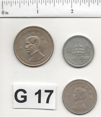 G17 - China - 3 Coins from 1942