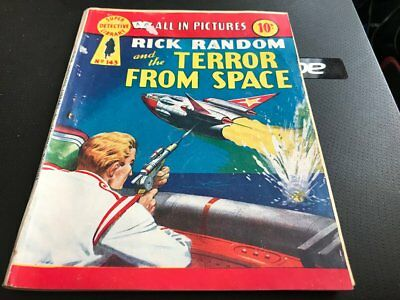 Super Detective Library--Rick Random And The Terror From Space--Comic--No 143