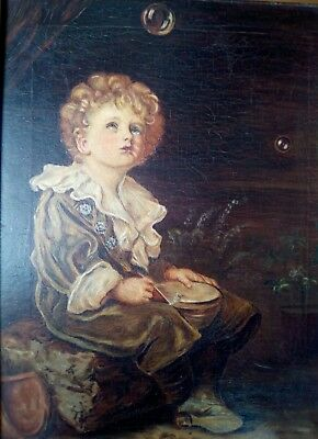 *bubbles* Admiral Of The Fleet, Pears Soap, A Childs World Antique Oil Painting