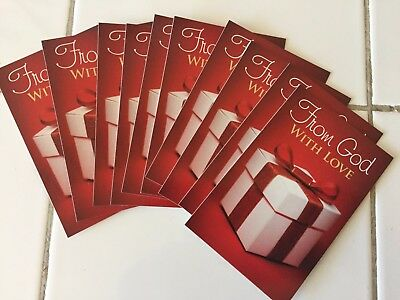 """Lot 12 New Gospel Bible Tracts """"From God with Love"""" Cards Gift Box Valentine"""