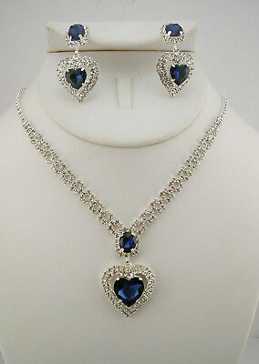 Joan Rivers Heart of the Ocean Pendant Necklace and Earring Set (w/pkg. shown)