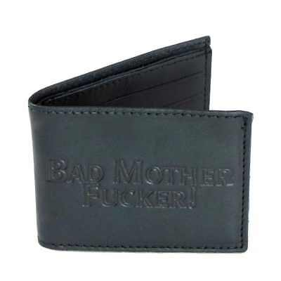 Billfold Slim Black Oil-Tanned Leather Wallet - Bad Mother - USA MADE America