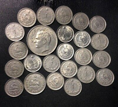 Old Iran Coin Lot - HIGH GRADE - 24 AWESOME Shah Era COINS - Lot #A22