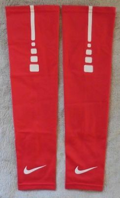 a4e10842908 NIKE PRO ELITE Dri-Fit Arm Sleeves University Red/White Basketball Adult  L/XL