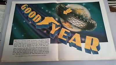 1919 OLD MAGAZINE PRINT AD GOODYEAR Tires Advertisement  _________________A100